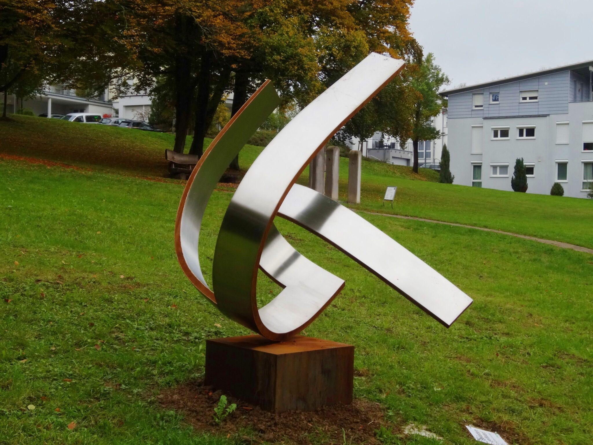 Foto der Skulptur für Eningen 2020